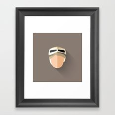 Rey Flat Design Framed Art Print