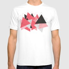 Triangle U185 White Mens Fitted Tee MEDIUM