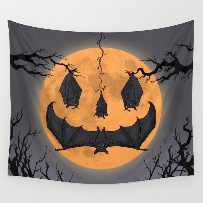 Halloween Moon Wall Tapestry