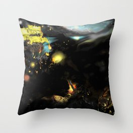 Red War Planet Throw Pillow