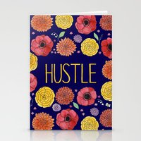 hustle Stationery Cards featuring Hustle by Yardia