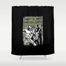 Bane/Darth in Camo Shower Curtain