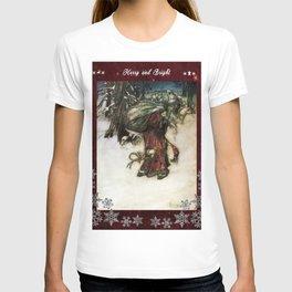 Father Christmas 2, Vintage Arthur Rackham Santa T-shirt