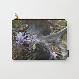 Columbines and Stump Carry-All Pouch