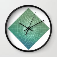 square Wall Clocks featuring square by Alessandro Spedicato