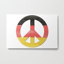 Water Color German Flag CND Peace Symbol Metal Print