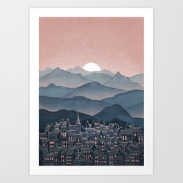 Seek - Sunset Mountains Kunstdrucke