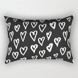 Pattern with hand-drawn Hearts Rectangular Pillow