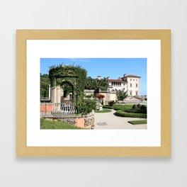 Villa Vizcaya Garden View Framed Art Print