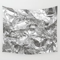 silver Wall Tapestries featuring Silver by RK // DESIGN