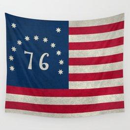 American Bennington flag - Vintage Stone Textured Wall Tapestry