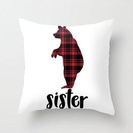 Christmas Sister Throw Pillow