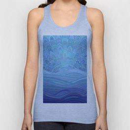 Blue Mandala Sunset at the Ocean Unisex Tank Top