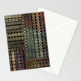 Ethnic Boho Golden Pattern on watercolor Stationery Cards