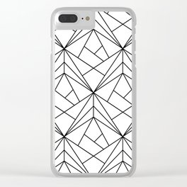 Black and White Geometric Pattern Clear iPhone Case