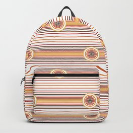 Concentric Circles and Stripes in Fall Colors Backpack