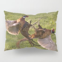 Fighting pheasants Pillow Sham