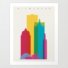Shapes of Milwaukee. Accurate to scale Art Print