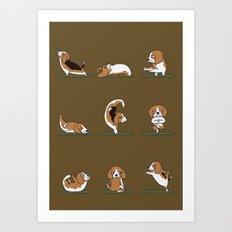 Beagle Yoga Art Print