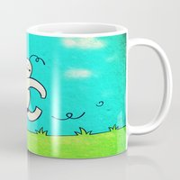 running Mugs featuring Running... by MaComiX
