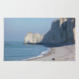 Beach at Etretat, France Rug