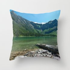 Avalanche lake Throw Pillow