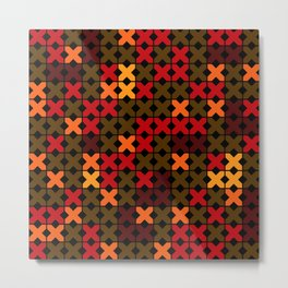An abstract geometric pattern . Rustic . Metal Print