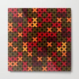 An abstract geometric pattern . Rustic . Metal Print