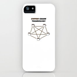 Coffee-chain Technology iPhone Case