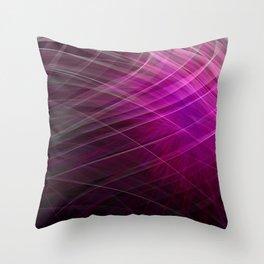 Linear Pattern-Purple Throw Pillow