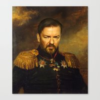 replaceface Canvas Prints featuring Ricky Gervais - replaceface by replaceface