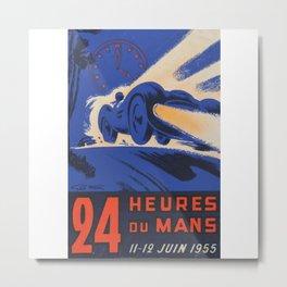 Le Mans 1955, 24hs Le Mans, 1955, original, vintage poster Metal Print