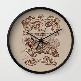 The Smuggler's Map Wall Clock