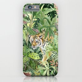 Tropical Tiger iPhone Case