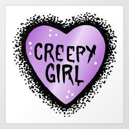 Creepy girl Art Print