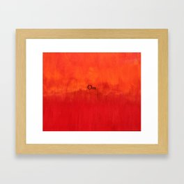 Om Framed Art Print