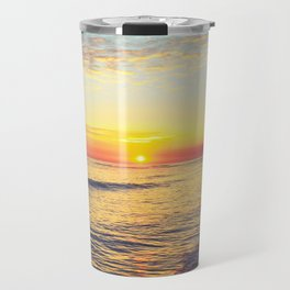 Summer Sunset Ocean Beach - Nature Photography Travel Mug