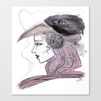 headdress Canvas Prints featuring Headdress by Avedon Arcade
