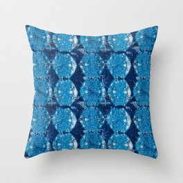 Cyanotype Diamonds Throw Pillow