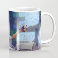 glee Mugs featuring Space Kurt by CRAZiE-CRiSSiE