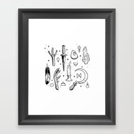 Accoutrements - white Framed Art Print