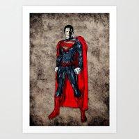 man of steel Art Prints featuring Steel Man by UvinArt