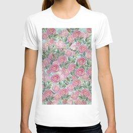 Vintage Roses Mint T-shirt
