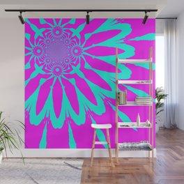 The Modern Flower Fushia & Turquoise Wall Mural