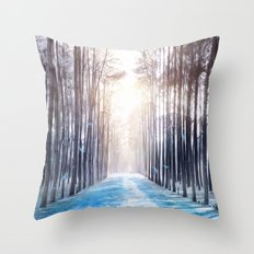 Feather Dance In Winter Throw Pillow