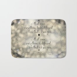 """""""I See the Light"""" by Mandy Moore and Zachary Levi from the movie """"Tangled"""" Bath Mat"""