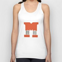 lettering Tank Tops featuring M Lettering by Mallory Ming