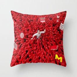 Oppression - Man Throw Pillow
