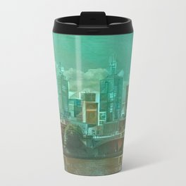 Melbourne Waterfront Abstract Metal Travel Mug