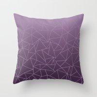 Ombre Ab Plum Throw Pillow